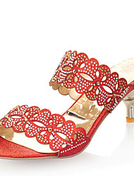 Women's Shoes Stiletto Heel Open Toe Rhinestone Sandals More Color Available