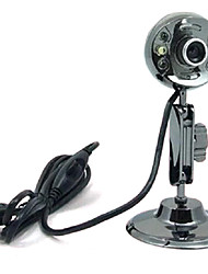 USB 2.0 HD CMOS na webcam 12m 1024x768 30fps com mic
