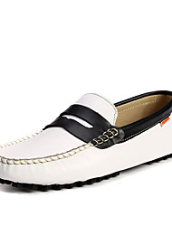 TBLS® Men's Nappa Leather Loafers Blue / Green / White / Bone-6278