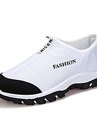 Men's Shoes Tulle Athletic Flats Athletic Sneaker Flat Heel Lace-up Black / Blue / White / Gray / Navy