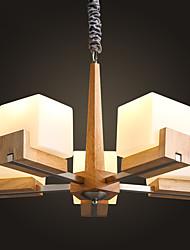 MAX 40W Lampe suspendue ,  Contemporain / Rustique Bois Fonctionnalité for Style mini Bois/BambouSalle de séjour / Chambre à coucher /