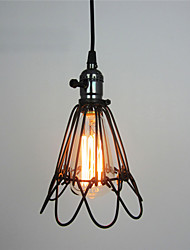 Retro Contracted Metal Loft Pendant Lights, Creative Black Painting Living Room Dining Room Garage light Fixture