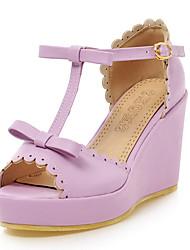 Women's Shoes Wedge Heel Wedges / Peep Toe / Platform / Open Toe Sandals Office & Career / Dress Blue / Purple