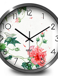 Quiet Elegant Ink Painting Quartz Wall Clock