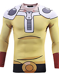 geinspireerd door One Punch Man Pikachu Anime Cosplay Kostuums Cosplay Tops / Bottoms Print  T-Shirt