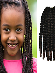 "Black Ombre Dark Brown 12"" Kid's Kanekalon Synthetic 2X Havana Mambo Twist 100g Hair Braids with Free Crochet Hook"