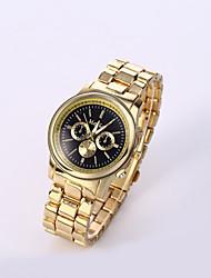 Men's Wrist watch Casual Watch Quartz Stainless Steel Band Charm Black White