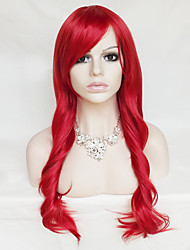 Color Cosplay Wig Red 26 Inch High Temperature Curly Hair Silk Wig