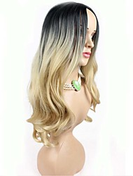 New Fashion High Quality Flax Gold Long Natural Volume Synthetic Wigs Hot Sale