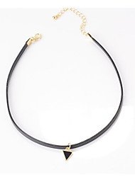 Necklace Choker Necklaces / Chain Necklaces Jewelry Daily / Casual Fashion Alloy / Fabric Black 1pc Gift