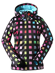 gsou sneeuw fashion populaire plaid patroon ski-jacks / vrouwen waterdicht winddicht softshell ski-wear