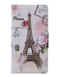 Voor Huawei hoesje / P9 Lite / P8 Lite Portemonnee / met standaard hoesje Volledige behuizing hoesje Eiffeltoren Zacht PU-leer Huawei