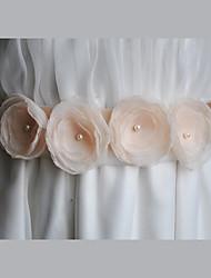 Wedding / Party/ Evening / Dailywear Sash-Floral / Imitation Pearl Women's 86 ½in(220cm) Floral / Imitation Pearl