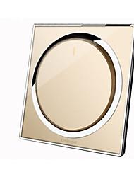 interruptor de botão de controle de redefinição de espelho acrílico cristal de vidro (de acordo com as ordens de ouro champanhe)