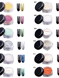 paillettes effet miroir chrome poussière glitter magic art miroitement des ongles en poudre décoration conseils paillettes paillettes de