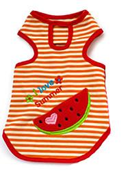 Hunde T-shirt Rot / Orange / Gelb / Purpur Hundekleidung Sommer Frucht