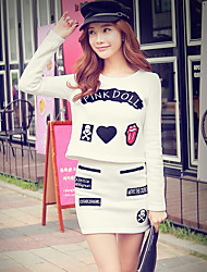 Pink Doll® Women's Above Knee White Skirt-X14ASK071