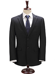 2017 Suits Slim Fit Notch Single Breasted Two-buttons Cotton Blend Solid 2 Pieces  Straight Flapped