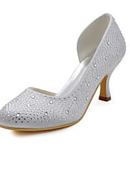женская обувь шелк стилет каблук каблуки / круглые пятки ног свадьбы / участник& вечер / платье белое