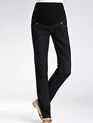 Maternity Simple Jeans Pants,Cotton Stretchy