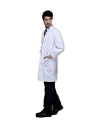 белые пальто врачи, служащие мужчин и женщин длинный рукав халата медицинская медсестра униформа