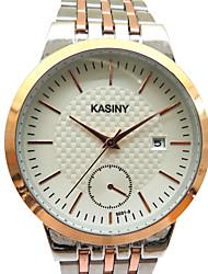 Мужской Модные часы Кварцевый Повседневные часы Нержавеющая сталь Группа Блестящие С подвесками Серебристый металл марка