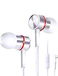 fone de ouvido de telefone graves fio de metal com trigo para Samsung / Huawei / milheto / mp3 computador Apple universal dt-210