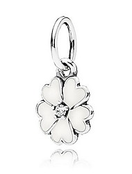 Women's Flower Pollen Silver Charm for Bracelet