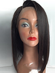 resistentes mulheres perucas de cabelo sintético topo de beleza melhor venda naturais preto curto bob reta dianteira do laço peruca de