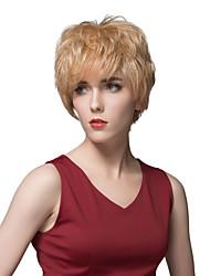 chaude élégante courte ligne droite cheveux humains capless perruque 4 pouces