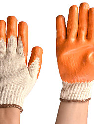 Wear Cotton-Lined Rubber Gloves Glass Coating Resistant Durable Rubberized Gloves