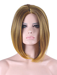 Best-selling Europe And The United States COS Wig Golden Brown Gradient Of  Bobo Wig 12 Inch
