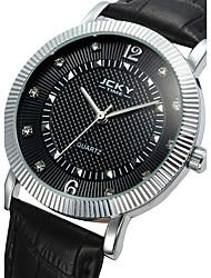 Men's Fashion Business Style Leather Band Quartz Watch