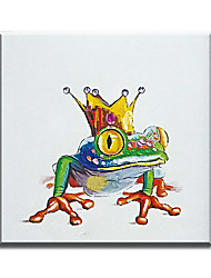 100% Handmade Modern Art Handsome Mr. Frog Home Decor Lovely Animal Wall Picture Oil Painting