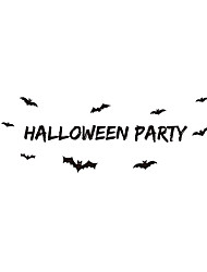 9352 Halloween With Bat Wall Stickers for Windows Home Decorations Wall Decals Festivals Stickers