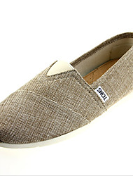Women's Shoes Twill Flat Heel Comfort / Ballerina / Round Toe Flats Casual Gray / Almond