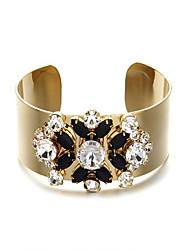 Europe personalized retro precious stones inlaid bracelet female wide