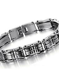 Men's Hight Quality Titanium Steel Silver Chain Bracelet Christmas Gifts
