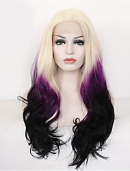 2 Tones Synthetic Lace Front Wig Three Tone Ombre Color Wavy Wigs Top Quality