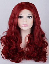Fashion Ombre Body Wave Synthetic Lace Front Wig Glueless Long Red Color Wigs