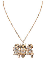 Wild Fashion Apparel Three Owl Necklace