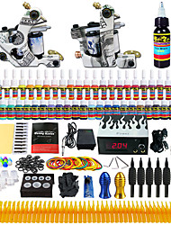 Solong Tattoo Beginner Tattoo Kit 2 Pro Machine s Power Supply Needle Grips Tips US Dispatch
