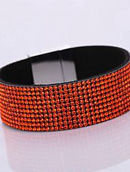 Women's Korean Velvet Full Diamond Simple Plurality Monolayer Magnet Alloy Buckle Bracelet