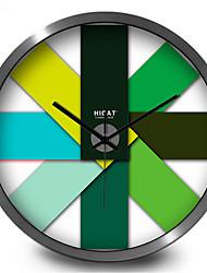 The Creative Trend Of Modern European Green Gradient All-Match Wall Clock