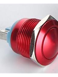 fornecimentos industriais 16 milímetros de metal auto-travamento interruptor de botão vermelho 12v