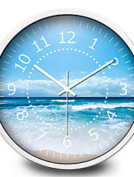 The Beautiful Blue Sky Creative Mute Quartz Wall Clock
