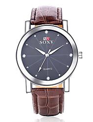 Relojes Quartz Men Watches Casual Leather Strap Watch Male Wristwatch Relogio Masculino