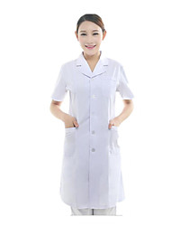 Short-Sleeved White Coat Nurse Doctors Serving Cosmetic Dentistry Hospital Lab Coat Medical Uniforms