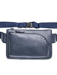Men PVC Formal Waist Bag Blue / Black
