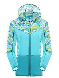 Mulheres Blusas Ioga Acampar e Caminhar Ciclismo/Moto CorridaProva-de-Água Secagem Rápida A Prova de Vento Resistente Raios Ultravioleta